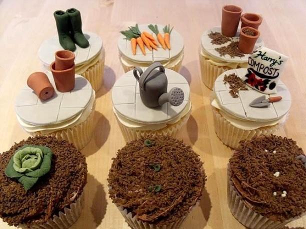 Gardening Gear Cupcakes