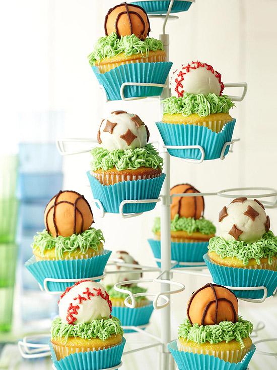 Pick-a-Sport Cupcakes Recipe