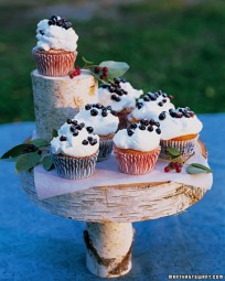 Huckleberry Cupcakes with Sweet Cream - Martha Stewart Recipes