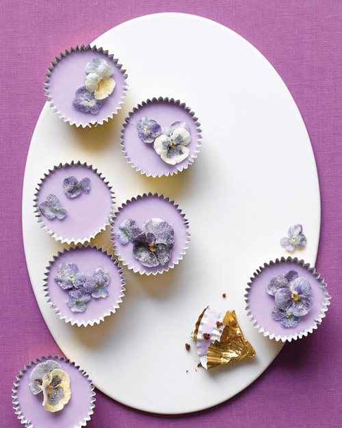 Spring Cupcakes with Sugared Flowers - Martha Stewart Recipes